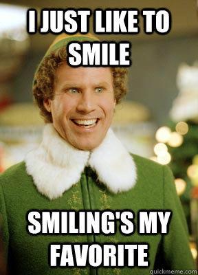 Elf smiling