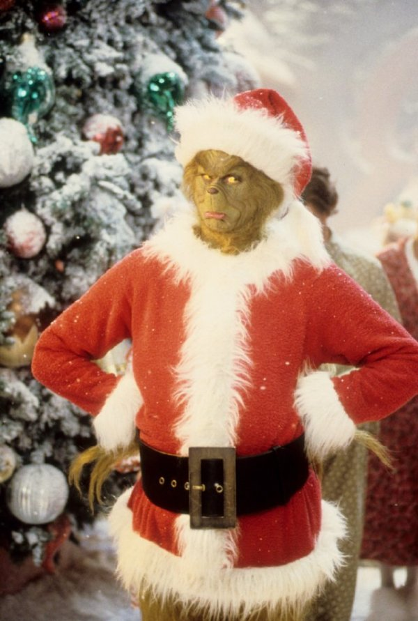 The grinch as Santa