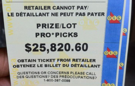proline winning ticket
