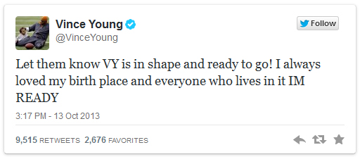 vince young tweet