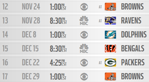 steelers sched